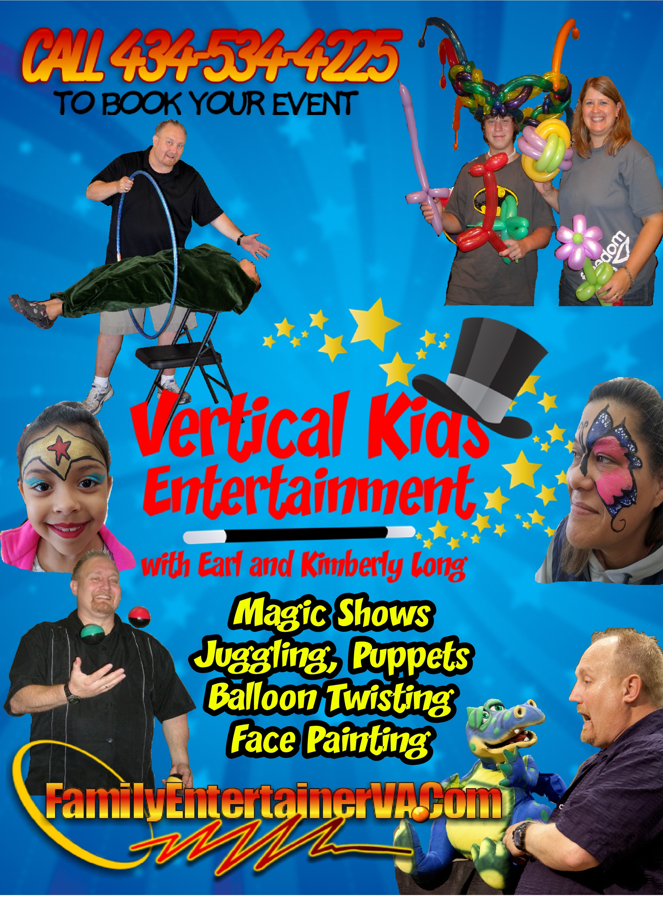 VKE Family Entertainer Poster with Face Painting