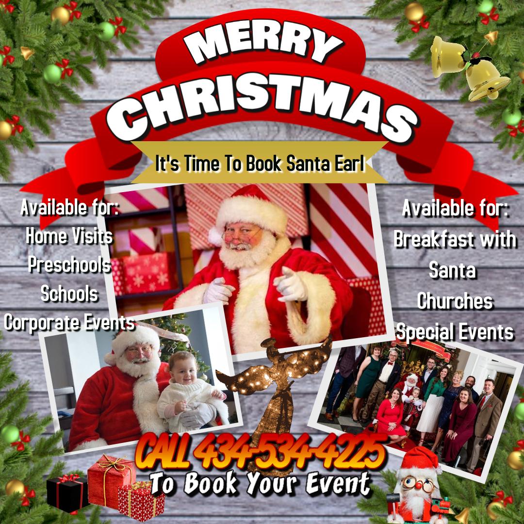 Book Santa Earl Poster