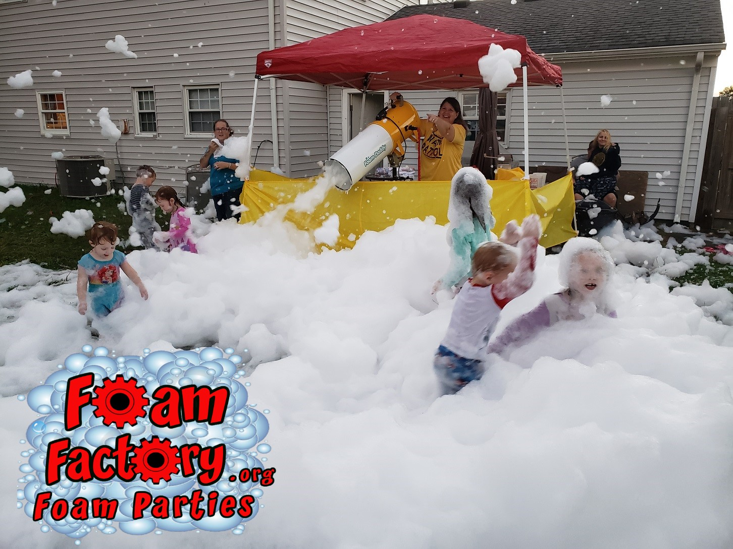 Foam Party backyard