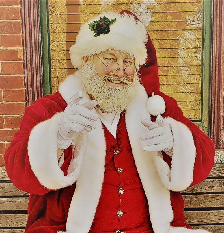 Santa Earl pointing